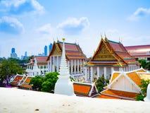 Le blanc de temple de Prayun est beau images libres de droits