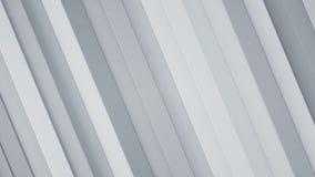 Le blanc diagonal barre le rendu 3D abstrait Photographie stock libre de droits