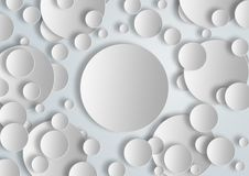Le blanc entoure la bannière pour l'usage graphique image libre de droits