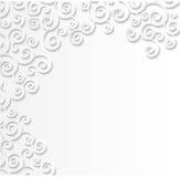 Le blanc a modelé le fond, l'effet 3d de l'application de papier Boucles volumétriques Photos stock