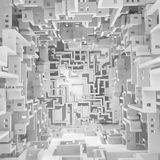Le blanc mure Maze Surreal vide illustration de vecteur