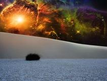 Le blanc ponce le paysage d'imagination Photographie stock libre de droits
