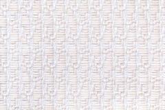 Le blanc a tricoté le fond de laine avec le modèle du tissu mou et laineux Texture de plan rapproché de textile Photos libres de droits