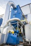 Le bleu émet de la vapeur le ventilateur Image stock