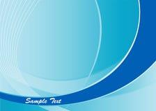 Le bleu abstrait courbe le fond Photos libres de droits