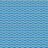 Le bleu abstrait ondule le fond sans couture de modèle Vecteur illustration stock