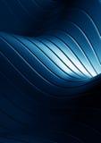 Le bleu abstrait ondule le fond Photographie stock