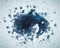 Le bleu abstrait repère le fond avec l'endroit pour votre texte illustration libre de droits