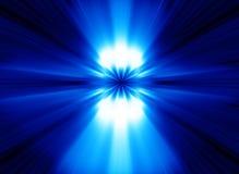 Le bleu allume le fond abstrait Images libres de droits