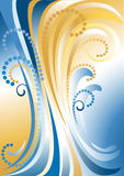 Le bleu avec le jaune barre le fond. Background.B Images libres de droits