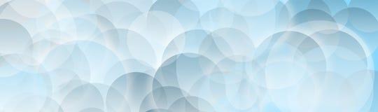Le bleu blanc bouillonne fond Images libres de droits