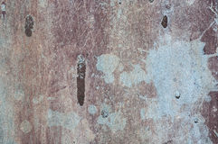 Le bleu brun extérieur rayé rouillé âgé a peint le fond de texture en métal Images stock