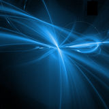 le bleu courbe la fractale Photos libres de droits