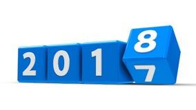Le bleu cube 2018 illustration de vecteur