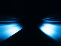 Le bleu diagonal rayonne le fond de bokeh Images stock