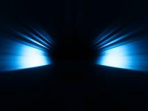 Le bleu diagonal rayonne le fond de bokeh Image libre de droits