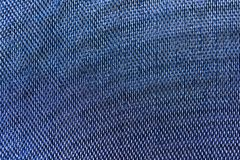 Le bleu filète le plan rapproché de macro de modèle de tissu Photos libres de droits