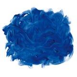 Le bleu fingerpaint illustration de vecteur