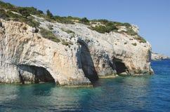 Le bleu foudroie Zakynthos photo stock