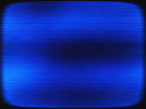 Le bleu horizontal de vintage a entrelacé le backgro d'abstraction d'écran de TV Photos libres de droits
