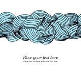 Le bleu ondule le fond illustration de vecteur