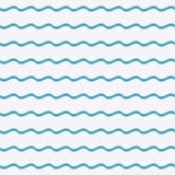 Le bleu ondule le modèle sans couture Fond ondulé Illustration de vecteur illustration stock