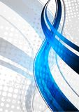 Le bleu ondule sur le fond gris illustration stock