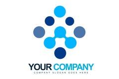 Le bleu pointille le logo Photographie stock libre de droits