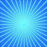 Le bleu rayonne le fond d'art de bruit rétro illustrat comique de vecteur de style illustration stock