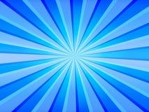 Le bleu rayonne le fond Photos libres de droits