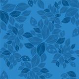 Le bleu sans joint part de la configuration Photographie stock