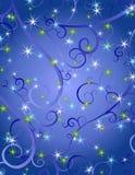 Le bleu tourbillonne fond de Noël d'étoiles illustration stock