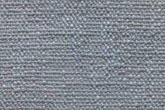 Le bleu a tricoté le fond de laine avec un modèle de tissu mou et laineux Texture de plan rapproché de textile Photos libres de droits