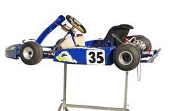 Le bleu vont Kart sur le stand photo stock