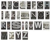 le bloc d'isolement marque avec des lettres le blanc Photo stock