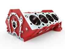 Le bloc des cylindres 3D rendent Image libre de droits