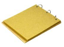 Le bloc - notes effectué à partir réutilisent le papier Images libres de droits