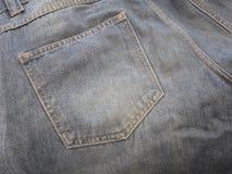 Le blue jeans appoggiano la casella Fotografie Stock