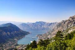 Le bocche del kotor, Montenegro, Europa, vista Immagini Stock Libere da Diritti