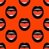 Le bocche della donna di canto illustrazione di stock