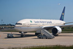 Le Boeing saoudien 777 image stock