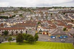 Le Bogside catholique renommé, une maison du mouvement républicain irlandais dans la ville de Londonderry Images stock
