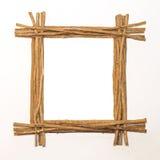 Le bois colle le cadre Image libre de droits