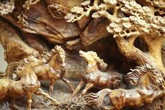 Le bois de cheval découpent Photo stock