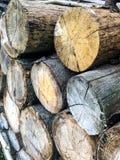 Le bois de construction note la vue image stock