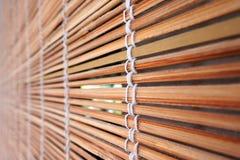 Le bois en bambou tropical aveugle le backgrond Images libres de droits