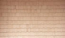 Le bois naturel de couleur essente le fond à la maison de voie de garage Photo stock