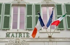 Le Bois Plage en Re, France - september 27 2016 : picturesque v. Le Bois Plage en Re, France - september 27 2016 : the city hall Royalty Free Stock Photo