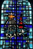 Le Bois Plage en Re, France - september 27 2016 : Saint Barthel. Le Bois Plage en Re, France - september 27 2016 : stained glass window of the Saint Barthelemy Stock Images