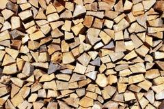 Le bois préparé pour la chauffage photos stock
